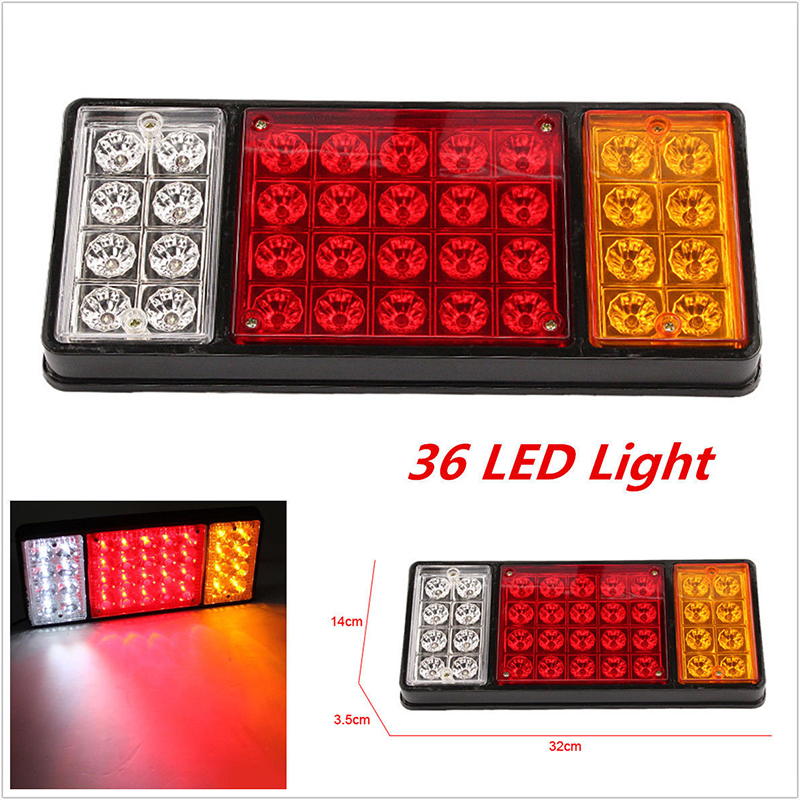 12V 36 LED Rear Trailer Tail Lights Caravan Truck Boat Car Stop Reverse Safety Indicator Lights For Trailer Truck Taillights 1x
