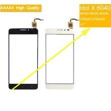 10Pcs/lot For Alcatel One Touch Idol X OT6040 6040 6040A 6040D 6040E OT6040X Screen Panel Sensor Digitizer Front