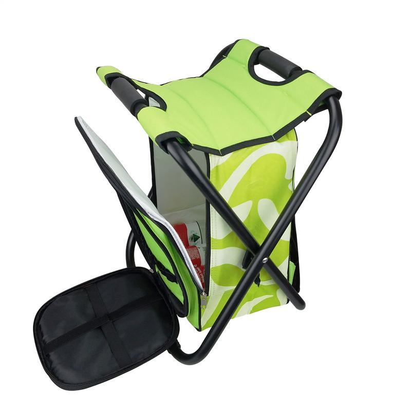 Chaise de pêche en plein air Portable siège pliant Camping Oxford tissu pliable pique-nique pêche chaise de plage avec sac