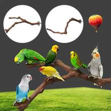 Pet Bird Cage Stand Colorful Perches Grinding Stand Platform Rack Toy Paw Poles Wild Grape Wood Bird Standing Pole Bird Supplies(China)