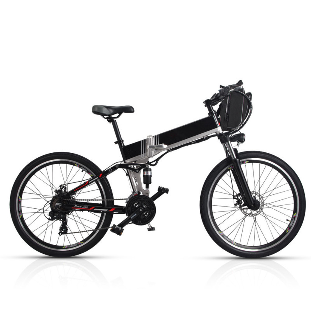 New Arrival Double Lg Battery 100-150km Long Range Electric Bike Mountain Style Full Suspension E Bike