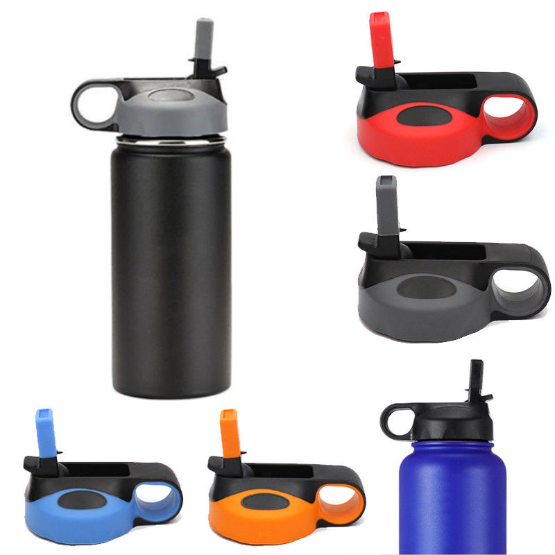 Straws-Caps Flask-Straw Water-Bottle HYDRO 64oz Drinking Sports Flip-Lid Wide-Mouth