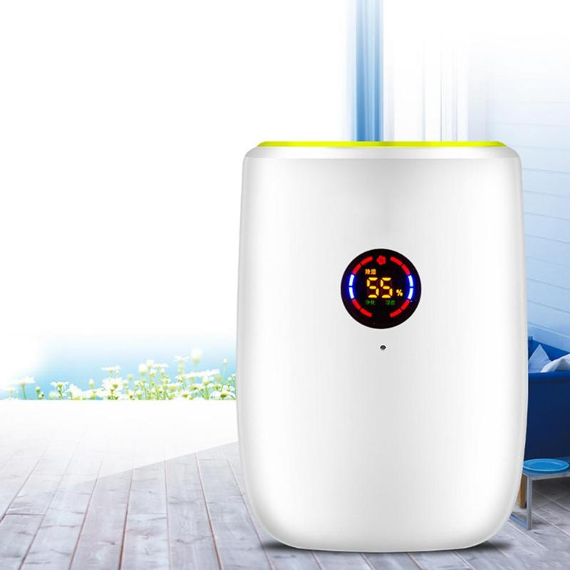 800ML Electric Air Dehumidifier Portable Moisture Absorber Air Dryer Desiccant Dehumidifier For Home With LED Indicator