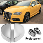 ABS Review Mirror Cover Side Wing Mirror Cover Shell For Audi A3 S3 8V 2014-2018 Matte Silver Mirror Caps Chrome