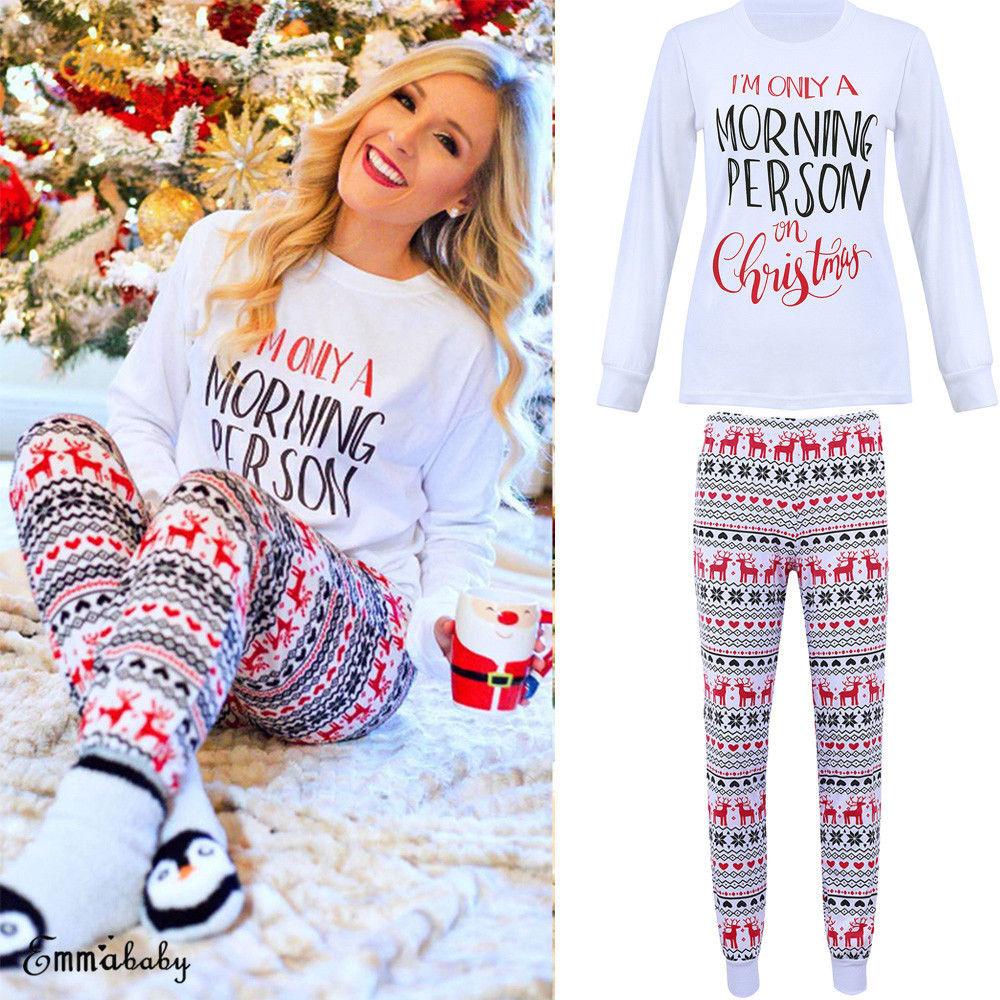 Christmas Pajamas Womens.Hirigin 2018 Hot Xmas Long Sleeve Shirts Women Ladies Christmas Pajamas Lounge Adult Xmas Sleepwear Nightwear Tops Outwear