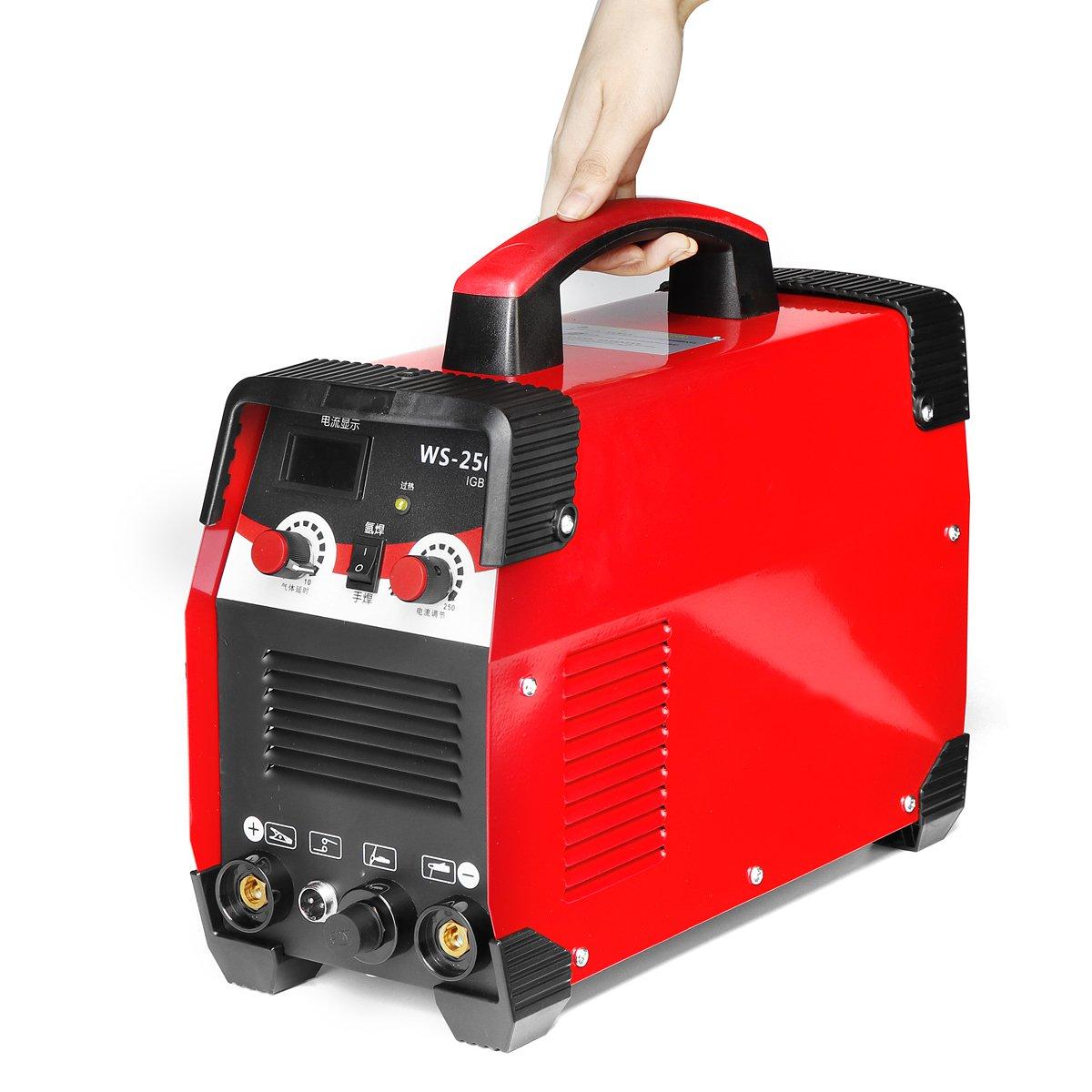 2IN1 220 V 7700 W TIG/MMA IGBT Máquina de Solda a ARCO Elétrico 20-250A VARA Inversor Para Soldagem de Trabalho e trabalho elétrico