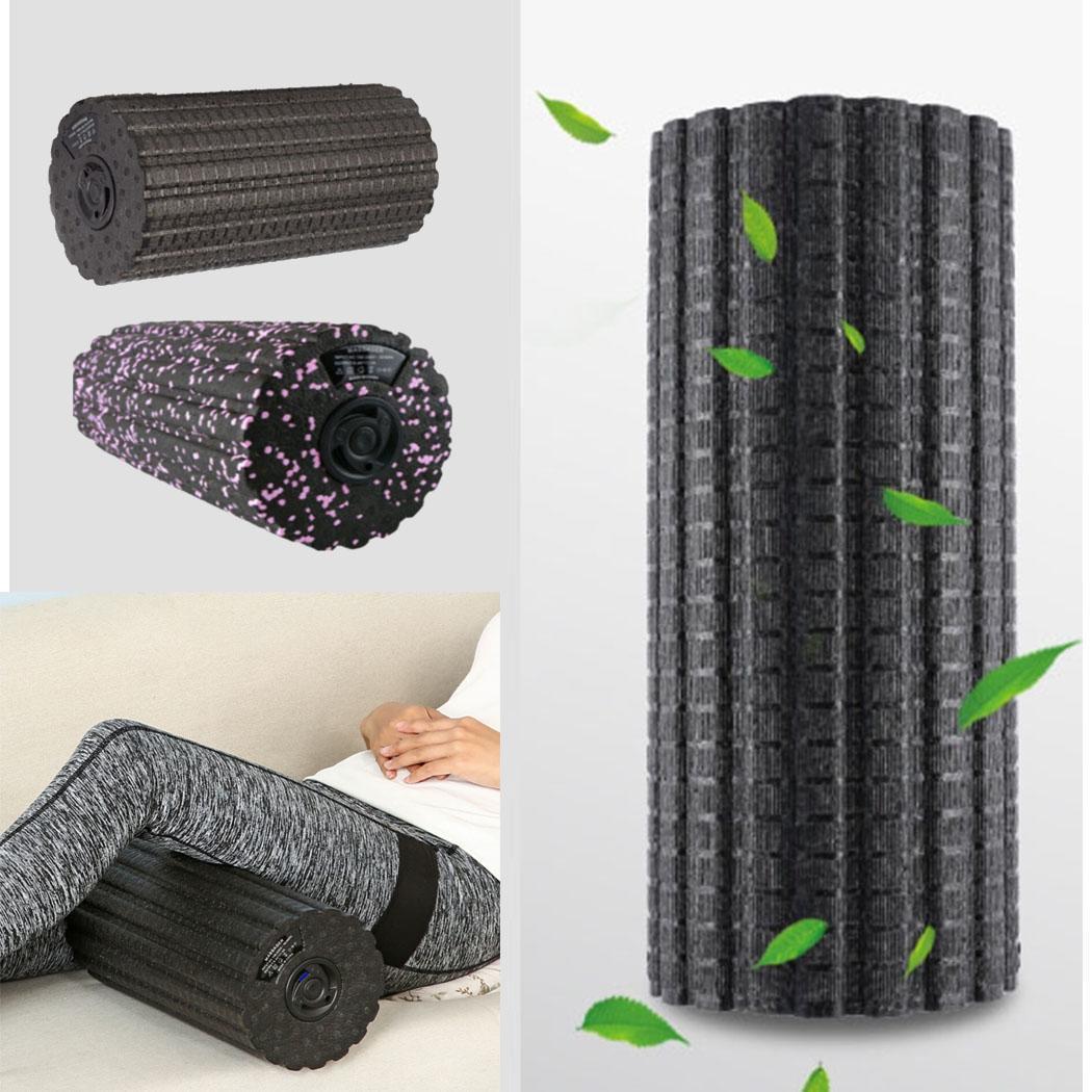 Rouleau de Massage musculaire électrique bâton de Yoga soulage la Fatigue musculaire sportive Vibration noir masseur de rouleau de mousse toutes saisons