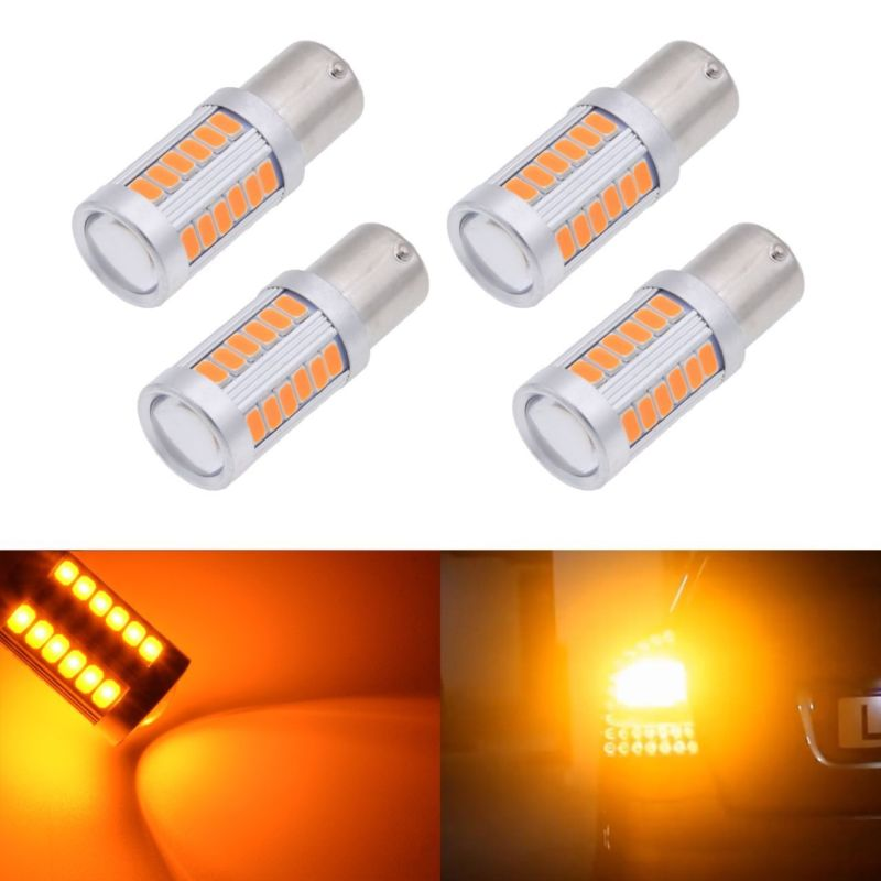 Leon 5F 2013 50W 7507//BAU15S//581 BRIGHTEST CREE LED AMBER CANBUS INDICATOR BULBS