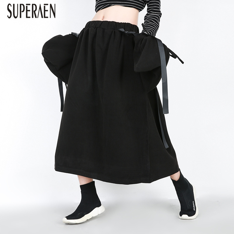 Cintura Moda Algodón 2018 Pluz Señoras Superaen Mujeres Tamaño Falda Casual Faldas Elástico Engrosamiento Nueva La Las Black De Europa wYqxqZ1P