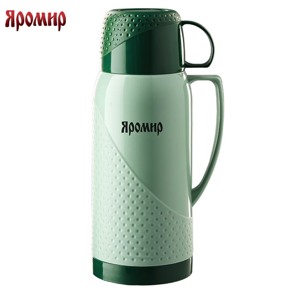 Vacuum Flasks & Thermoses Yaromir YAR-2022C/1 Green thermomug thermos for tea Cup stainless steel water yaromir yar 2405m hot cup 400ml vacuum flask thermose travel sports climb thermal pot insulated vacuum bottle stainless steel