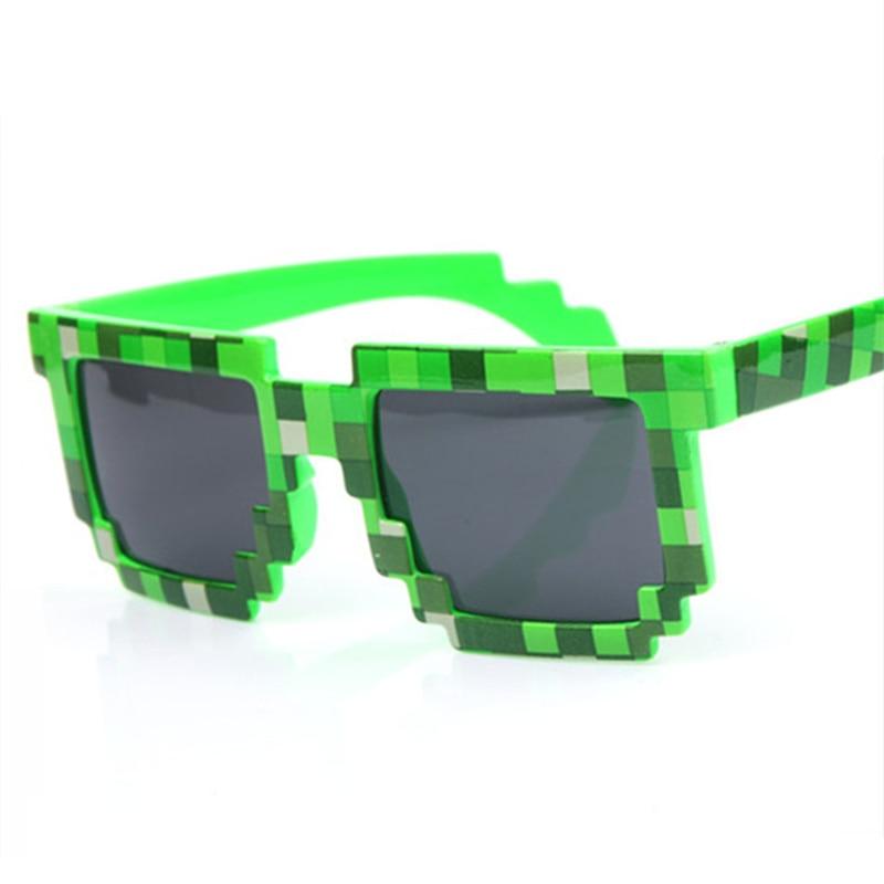 f47d188a8 Imwete Retângulo Óculos De Sol Das Mulheres Dos Homens Do Vintage Da Marca  de Moda Mosaico Malha Óculos De Sol para Homens 8 bit Pixel Óculos UV400