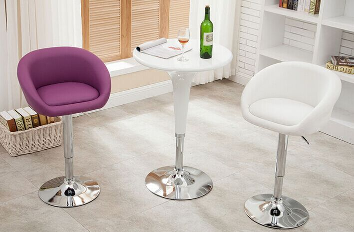 Купить с кэшбэком The European bar chairs high foot swivel chair cortex bar chair stool stool household lift