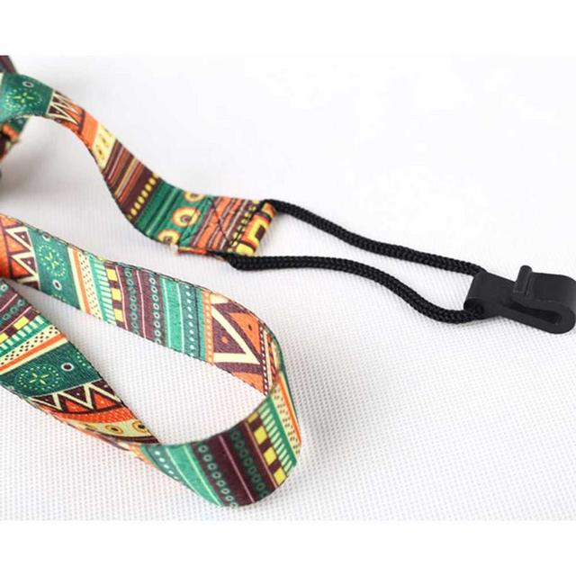 Ethnic Style Colorful Ukulele Strap Thermal Transfer Ribbon Durable Little Guitar Belt Musical Instrument Accessories 5
