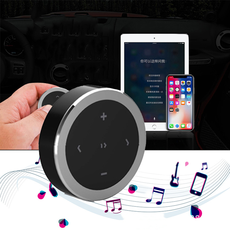 Wireless Bluetooth Media Button Car Motorcycle Steering Wheel Music Play Receiver Remote Control For IOS Android in Bluetooth Car Kit from Automobiles Motorcycles