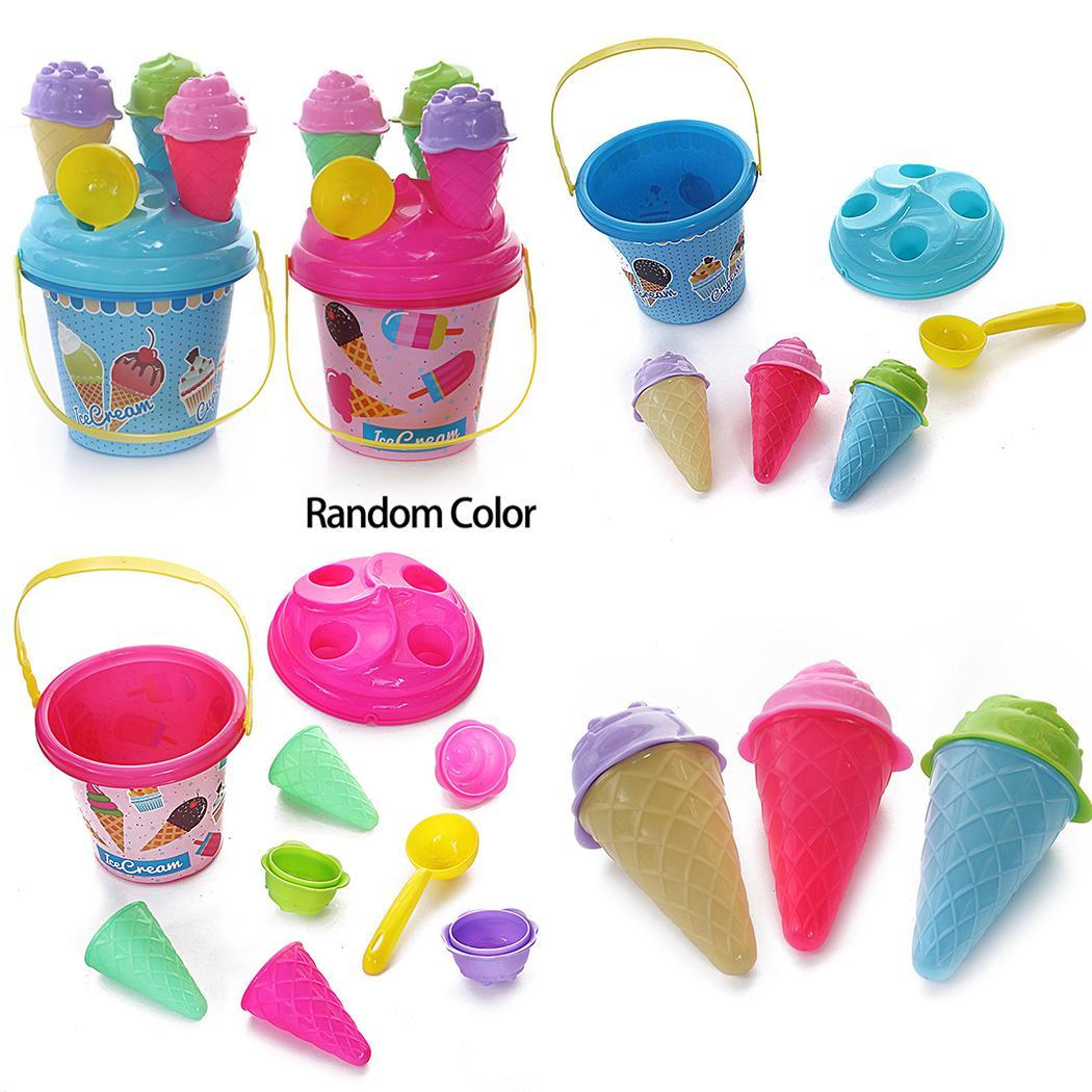 New Kids Children Girls Cartoon Simulated Ice Cream Summer Beach Toys Toy Multi (3-6 Years Old) Set