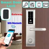 Умный дверной замок Домашний Keyless замок отпечаток пальца пароль работа электронный замок беспроводное приложение телефон Bluetooth управление