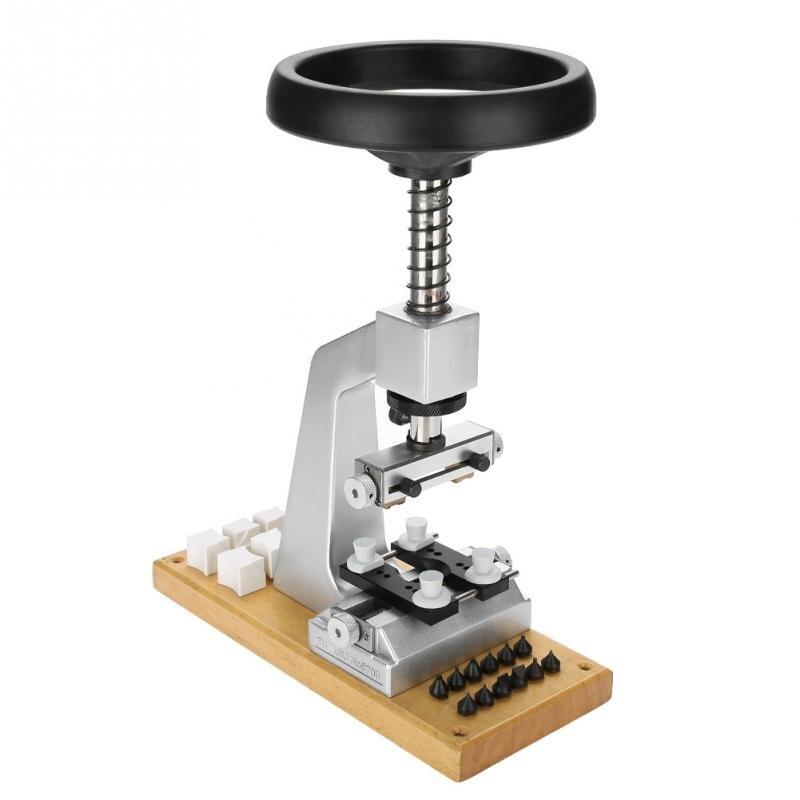 Profesional 5700 # reloj de Banco abridor de caja con reloj de Base de Metal kit de herramientas de reparación de reloj para reloj de tornillo abridor-in Kits y herramientas de reparación from Relojes de pulsera    2