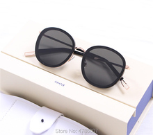Sunglasses Women Men Retro Fashion Round Sun Glasses UV400 Double Nose Bridge Metal and Acetate Frame with original leather box high quality light round walnut wood sunglasses with metal nose bridge and temples