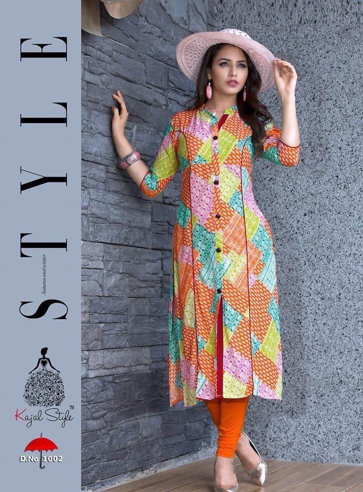 Women Pakistani Kurta Cotton Designer Digital Print Tunic Tops Kurti