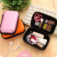 Unisex Portable PU Small Coins Purse Children's Wallet Large Capacity Travel Cable Earphone Phone Charger Storage Case Box Pouch