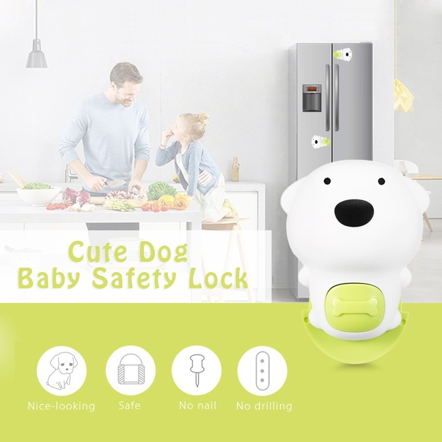 Baby Safety Lock Silicone Childproof Latch For Door Cabinet Fridge Children Protection Lock Castle Security Blocker Padlock