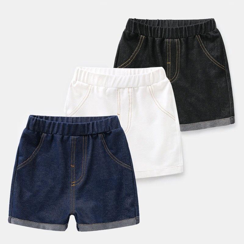 2-7 Jahre Baby Sommer Kleidung Kinder Denim Shorts Für Jungen Kleinkind Schwarz Blau Weiß Jeans Kurze Hosen Wenig Jungen Hot Pants U10628 Eine GroßE Auswahl An Waren