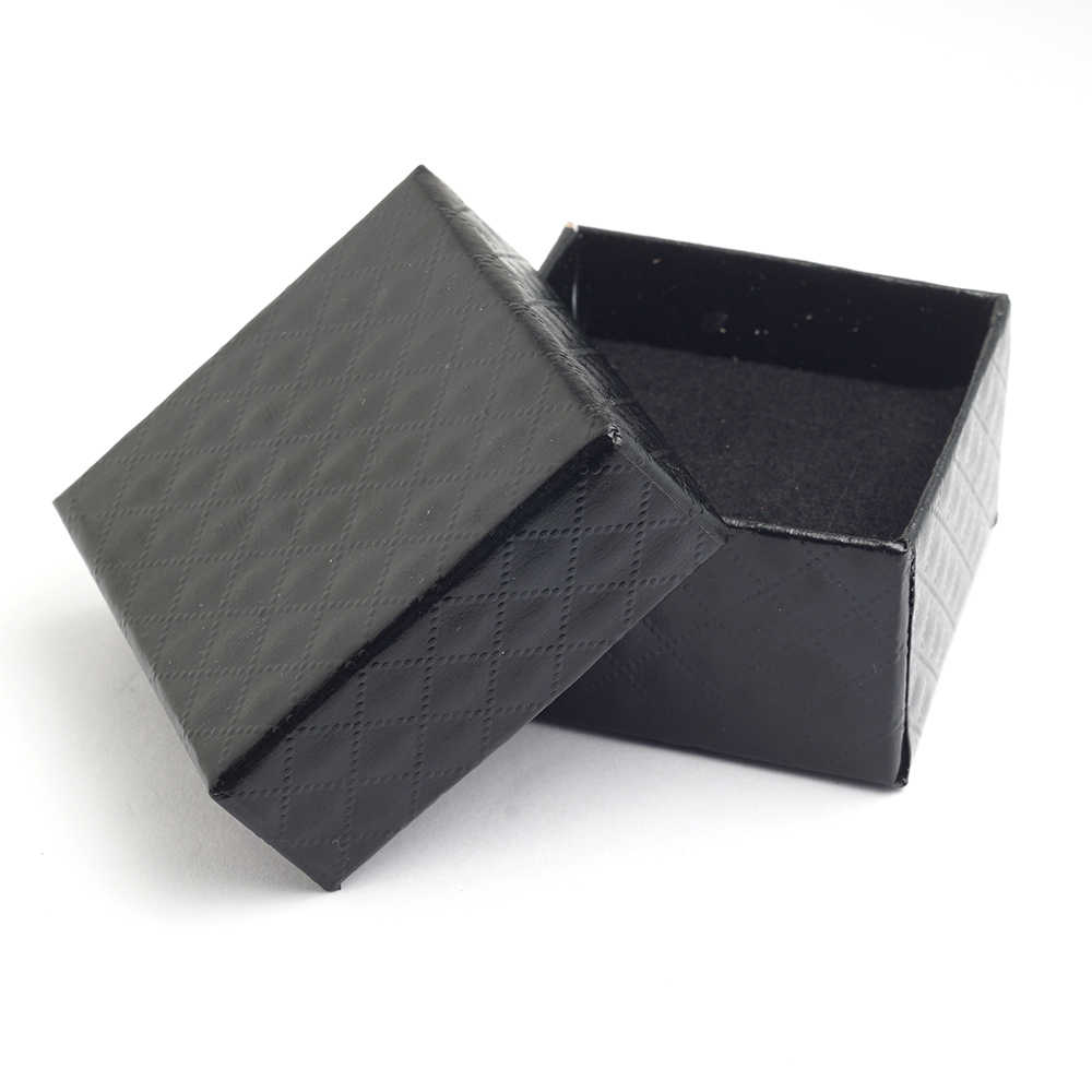 Black Gift Boxes Yunkingdom Square Shape Jewelry Earrings Rings Gift Boxes Black Square Carton Bow Case
