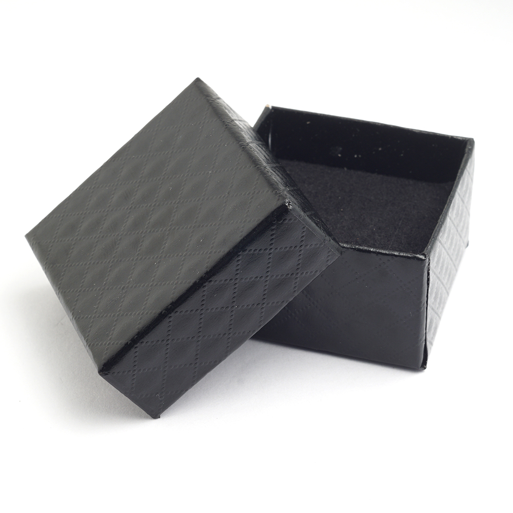 Yunkingdom Square Shape Jewelry Earrings Rings Gift Boxes Black Square Carton Bow Case