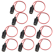 Premium 12V Car Cigarette Lighter Socket Extension Cord, Fused (Red), Pack of 10