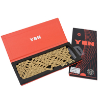 YBN Ultralight 10 11 12 Speeds Bicycle Chain SLR Gold Hollow MTB Road Bike Chain for Shimano/SRAM/Campanolo System