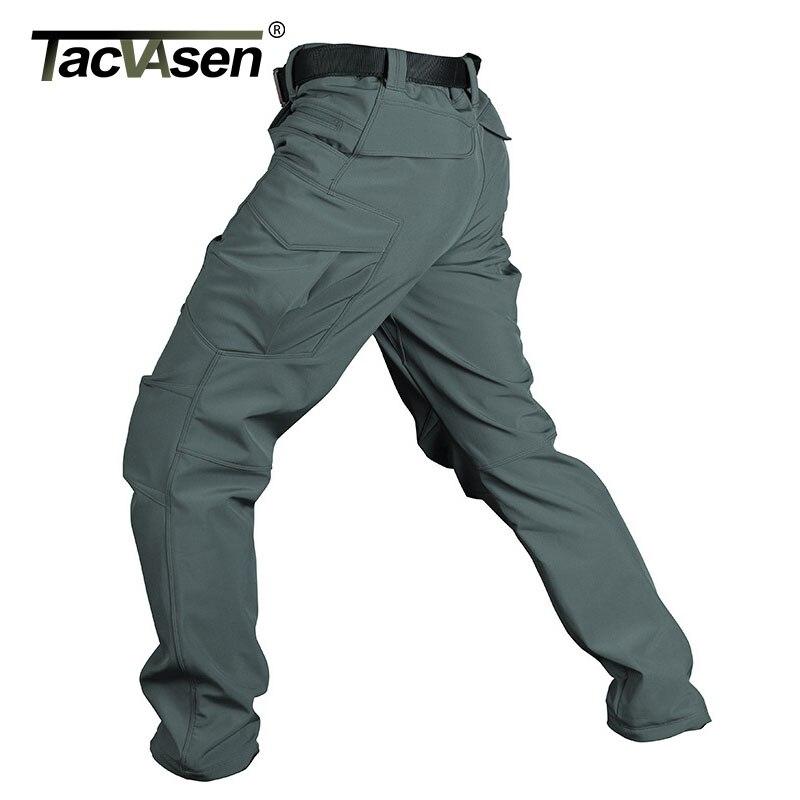 TACVASEN spodnie zimowe mężczyźni zagęścić polarowe taktyczne Softshell spodnie luźne wielu kieszenie termiczne wiatroszczelne spodnie bojowe QZJL 025 w Spodnie nieformalne od Odzież męska na  Grupa 1