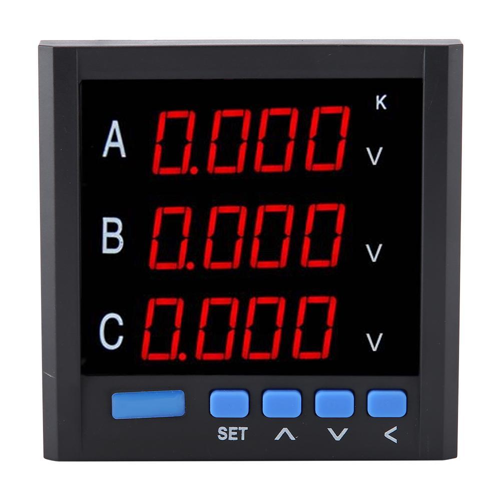 High Quality Three-phase Voltmeter Intelligent Digital Display Meter Voltmeter AC Voltage Meter