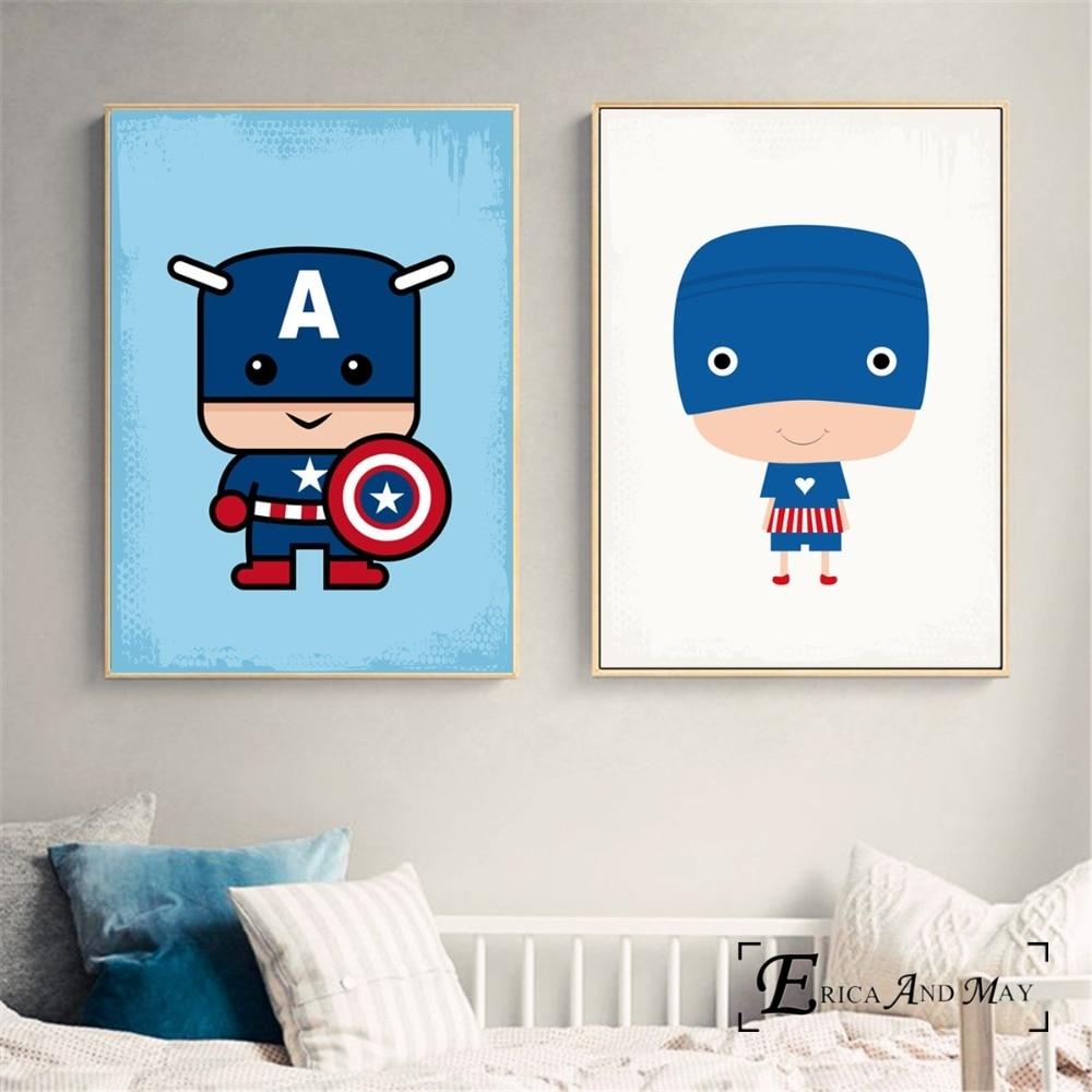 Мстители супер герой Минималистский плакат и печати на холсте картины настенные панно для детей украшение помещения домашнего декора No Frame