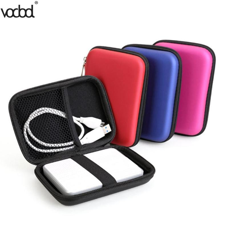 """2.5"""" Hdd Bag Hard Disk Case Zipper Pouch External Hard Drive Disk Protector Cover Powerbank Mobile Hdd Eva Storage Box Caddy"""