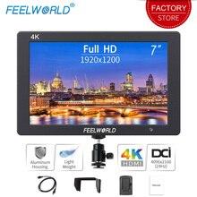 Feelworld Monitor portátil de 7 pulgadas para cámara DSLR 4K, HDMI, Ultra Full HD, 1920x1200, pantalla LCD IPS, carcasa de aluminio