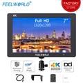 Feelworld T7 7 дюймов на камеру поле DSLR монитор 4K HDMI ультра Full HD 1920x1200 ЖК ips дисплей портативный для камеры sony Nikon