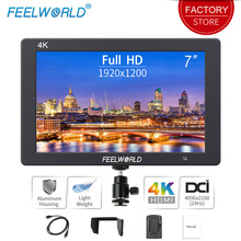 Feelworld T7 7 pouces sur le champ de la caméra DSLR moniteur 4K HDMI Ultra Full HD 1920x1200 LCD IPS affichage boîtier en aluminium Portable