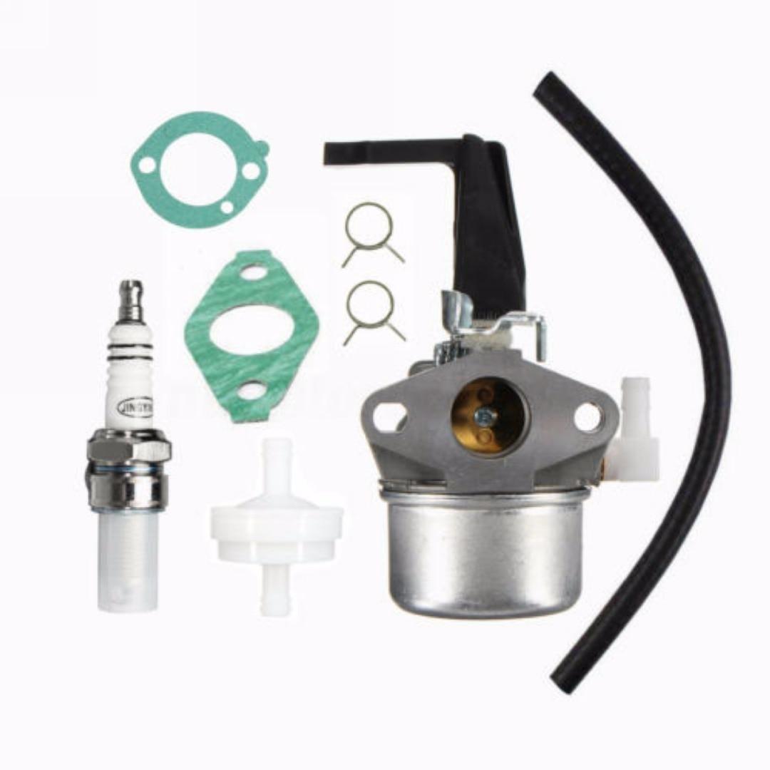 Black & Silver Carburetor Tiller Carb Fuel Filter Kit Set Fit For 696065 697422