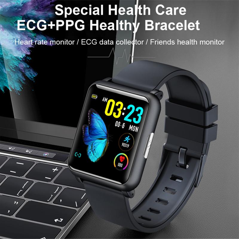 Smart Bracelet Sports Watch PPG + ECG Blood Pressure Heart Rate Detection  Calorie Steps Sleep Monitoring Remote Control Camera