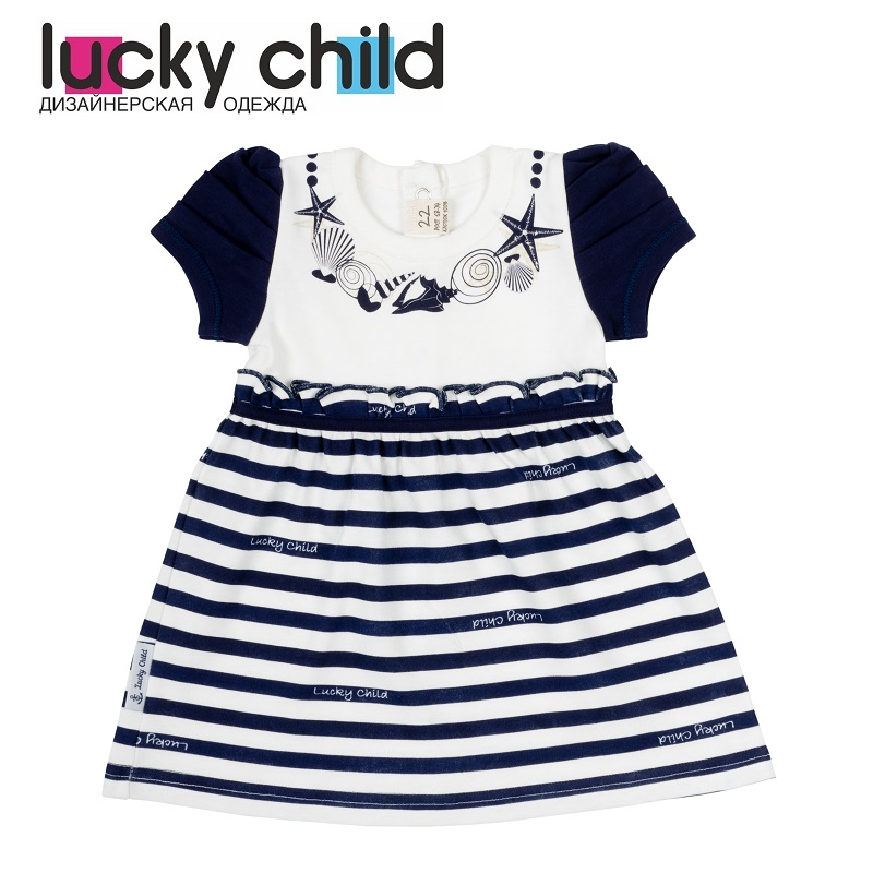 Dresses Lucky Child for girls 28-62D (3M-18M) Dress Kids Sundress Baby clothing Children clothes dresses lucky child for girls 50 63 18m dress kids sundress baby clothing children clothes