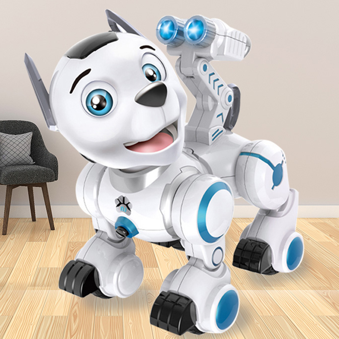 Enfants Tôt Éducation Pet Chien Intelligent RC Robot Intelligent Patrouille Jouet Pour Chien avec Danse Clin D'oeil pour Enfant Cadeau D'anniversaire - 4