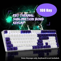 S SKYEE Magicforce 108 Key UV Light Color Dye sub PBT Keycaps English Langue Keycap Set for Mechanical Keyboard