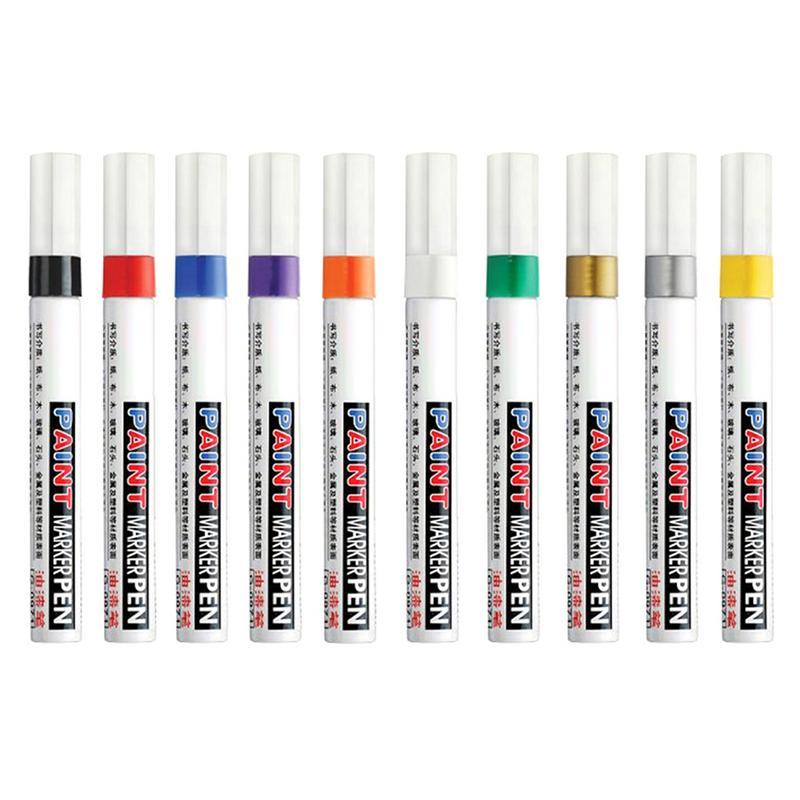 Car Permanent Paint Marker Pen Tire Tread Rubber Metal Acces Colors Auto Car Coat Paint Pen Touch Up Scratch Clear Repair