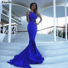 Xnxee New Vestidos Sexy Solid Blue Slim Long Dress Women Winter Dresses Fashion Party Vestido De Fiesta