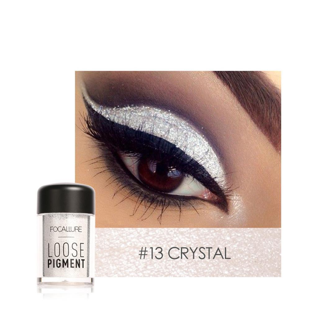 Blue Black Makeup Tool Purple Gold Objective Glitter Shimmer Pearl Loose Eyeshadow Powder Bright White Green