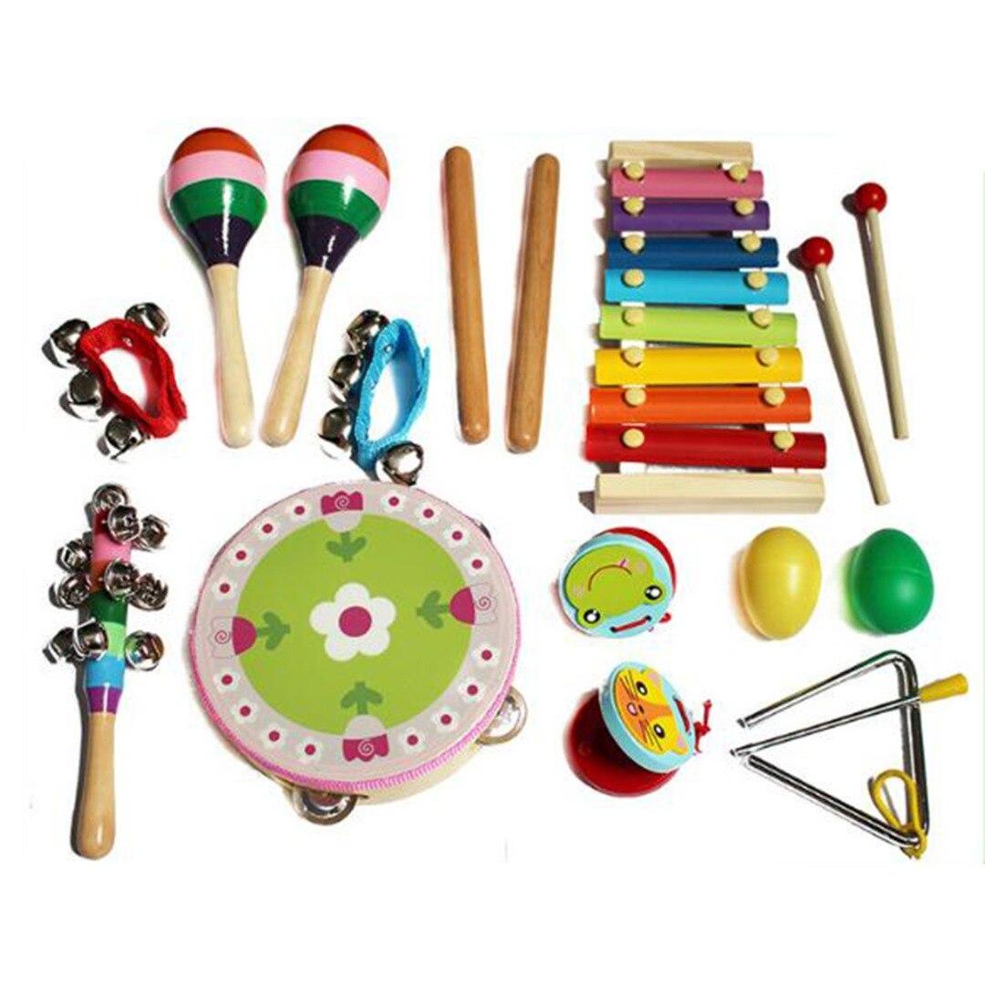 17 pièces/ensemble enfants début Instrument de musique éducatif jouets Instruments de musique ensemble pour les enfants apprenant des Kits de musique