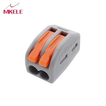 цена (10 pcs/lot)  Connector,222-412(PCT212) Universal Compact Wire Wiring Connector,2 pin Conductor Terminal Block plug pcb онлайн в 2017 году