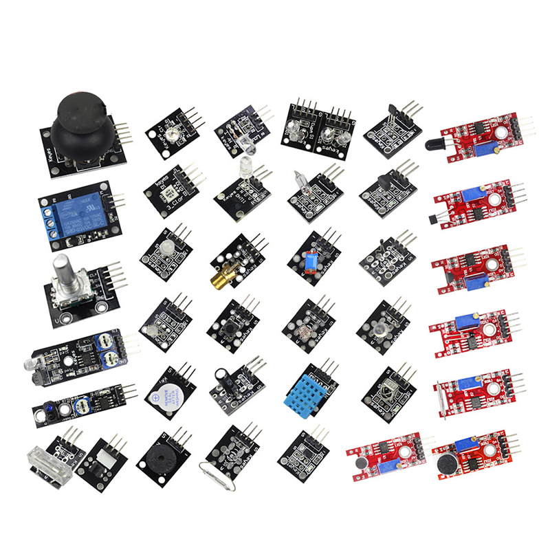 Image 3 - Raspberry Pi 3 Model B+ /4B 37 IN 1 Sensors Kit with big breadboard Starter KitDemo Board   -