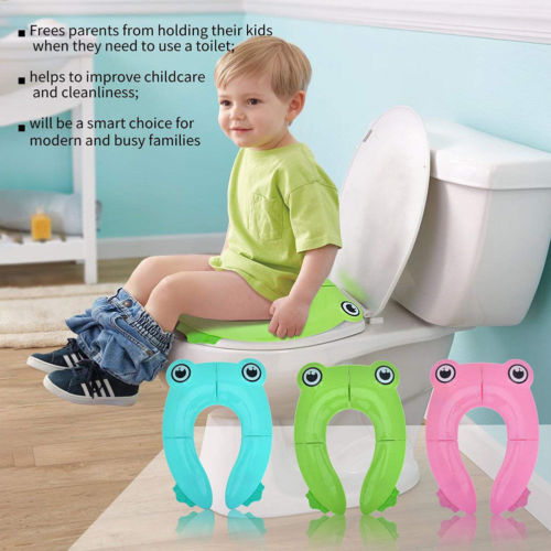 Portable Folding Baby Potty Seat Mat Toilet Training Urinal Cushion Non Slip Pad