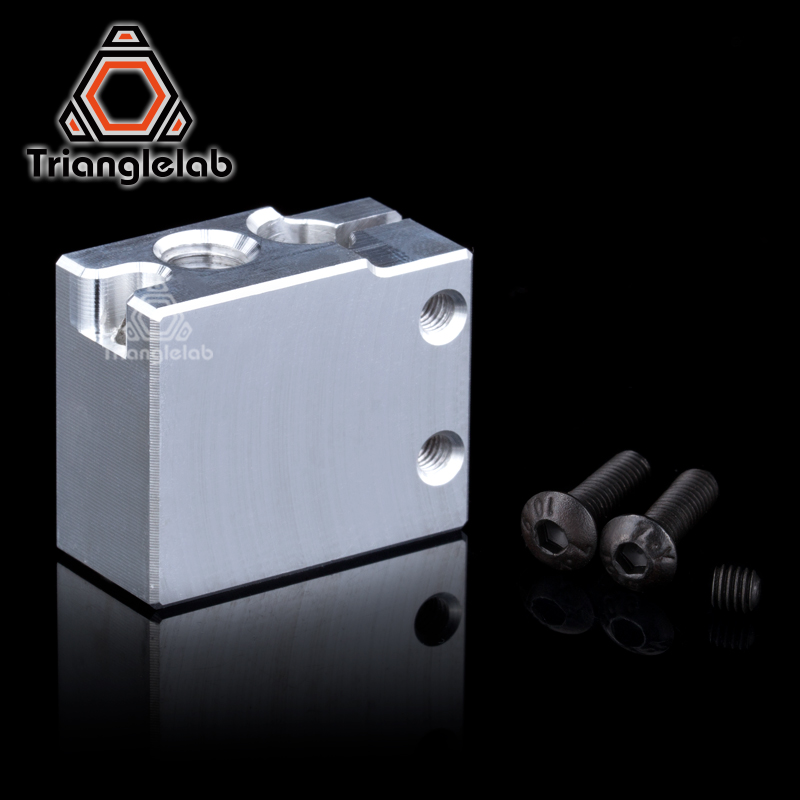 Volcano Heater Block For E3D Volcano Hotend Compatible Pt100 Sensor/Thermistor Cartrodge 3D Printer Upgrade Kit Diy I3 Delta Um